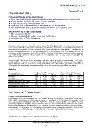 Press release - Air France-KLM Finance