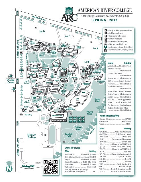 Campus Map   American River College   Los Rios Community