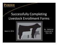 Successfully Completing Livestock Enrollment Forms - Indiana 4-H