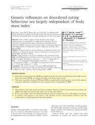 Genetic influences on disordered eating behaviour ... - ResearchGate