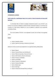 Experiencias Piloto de Implantación del Sistema de Créditos ...
