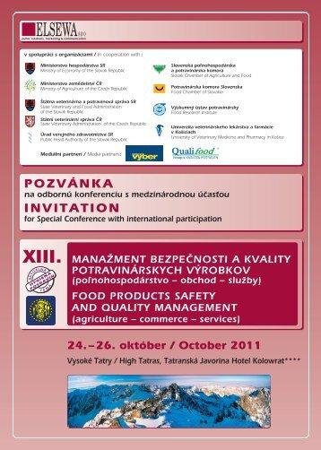 POZVÁNKA INVITATION