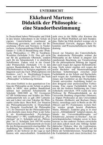 Ekkehard Martens - Fachdidaktikzentrum Psychologie-Philosophie