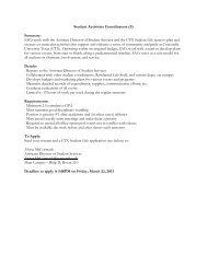Student Activities Coordinators (3) - Concordia University