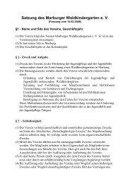 Satzung des Waldkindergartens Fassung Februar 2006