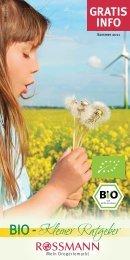 Jetzt downloaden: die Rossmann Bio-Broschüre