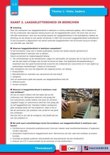 laaggeletterdheid in bedrijven - Taalwerkt.nl