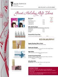 Great Holiday Gift Ideas - Salon Services & Supplies