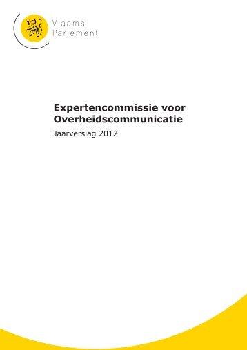 Expertencommissie voor Overheidscommunicatie - Vlaams Parlement