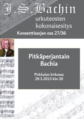29.3.2013 - Pirkkalan seurakunta