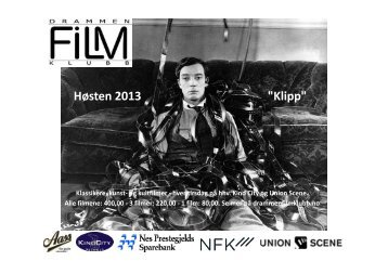 "Høsten 2013 ""Klipp"" - Drammen Filmklubb"