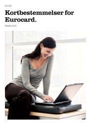 Kortbestemmelser for Eurocard.