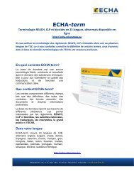 ECHA-term - Europa