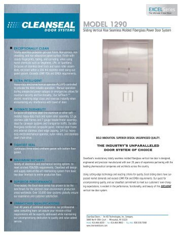 MODEL 1290 - Cleanseal Doors