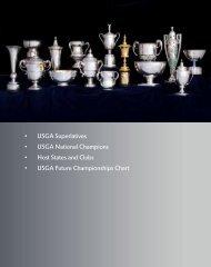 • USGA Superlatives • USGA National Champions • Host States and ...