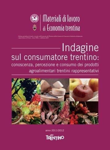 Indagine sul consumatore trentino - Palazzo Roccabruna