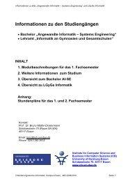 Informationen zu den Studiengängen - FSE