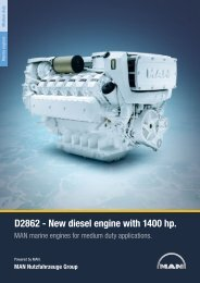 D2862 - New diesel engine with 1400 hp.