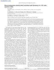 """Room-temperature electric-field controlled spin dynamics in """"110 ..."""