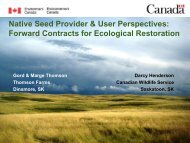 Forward Contracts for Ecological Restoration