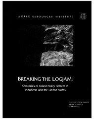 BREAKING THE LOGJAM: - World Resources Institute