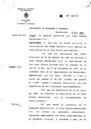 05/12/2001 - Nueva ampliación de la zona franca de Montevideo