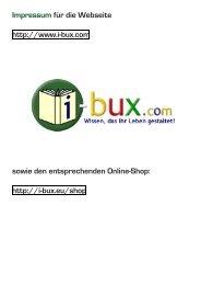 Impressum für die Webseite http://www.i-bux.com sowie den ...