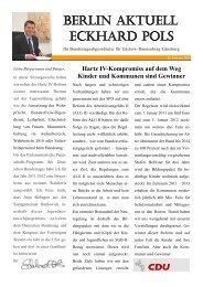 Newsletter 04/2011 des MdB Eckhard Pols