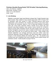 Penilaian Akustika Ruang Kuliah TVST B Institut Teknologi Bandung