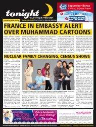 france in embassy alert over muhammad cartoons - tonight ...