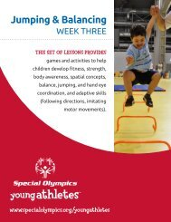Balance and Jumping - Special Olympics