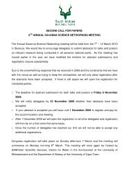 8TH ANNUAL SAVANNA SCIENCE NETWORKING ... - SANParks