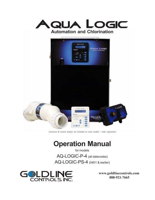 Aqualogic P4 Operation Manual Inyo Swimming Pool Products