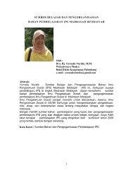 SUMBER BELAJAR IPS oleh Dra. Hj. Yurnalis ... - Kemenag Sumsel