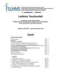 Leitlinie Tauchunfall - Suhms
