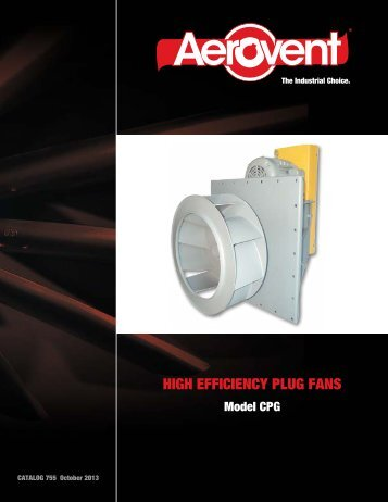 High Efficiency Plug Fans (CPG) - Catalog 755 - Aerovent