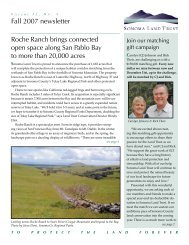 View or download newsletter - 500 KB PDF - Sonoma Land Trust