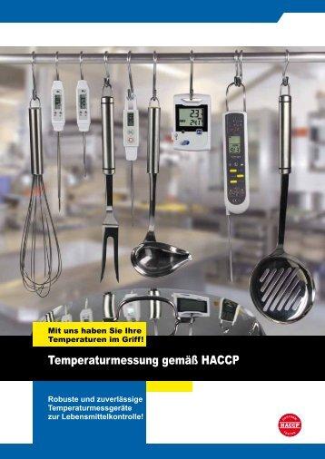 Temperaturmessung gemäß HACCP