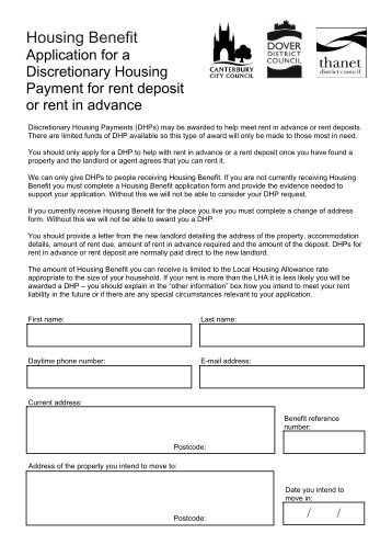 Council Tax Support Change Of Address Form  Canterbury City Council