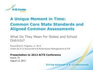 Design of the Consortia Assessments & Implications for States