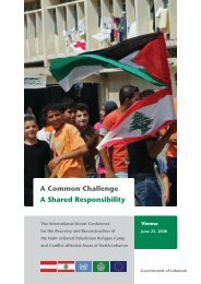 A Common Challenge A Shared Responsibility - UNDP in Lebanon