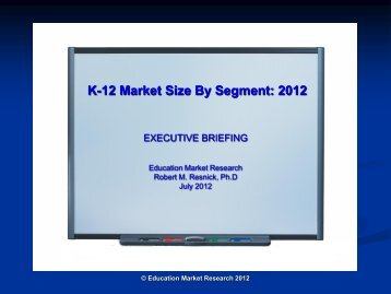 K-12 Market Size By Segment - BMI – Book Manufacturers