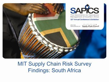 MIT Supply Chain Risk Survey Findings - IMPERIAL Logistics