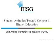 Student Attitudes Toward Content in Higher Education - BMI – Book ...