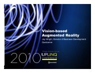 Vision-based Vision based Augmented Reality - Uplinq