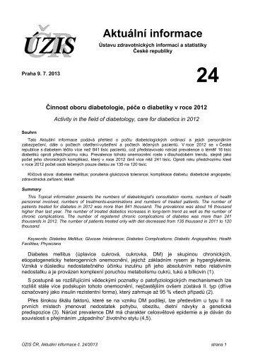 Aktuální informace č. 24/2013 - ÚZIS ČR