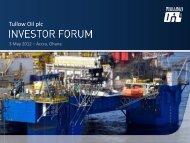 Ghana Investor Forum - May 2012 - Tullow Oil plc