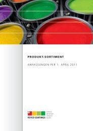 Produkt-Sortiment Anpassungen APR 2011 - bei FEYCO