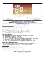schedule - Public.coe.edu - Coe College