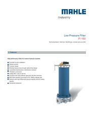 Low Pressure Filter Pi 150 - MAHLE Industry - Filtration